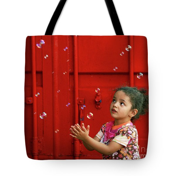 Bubbling Girl Tote Bag by Aimelle