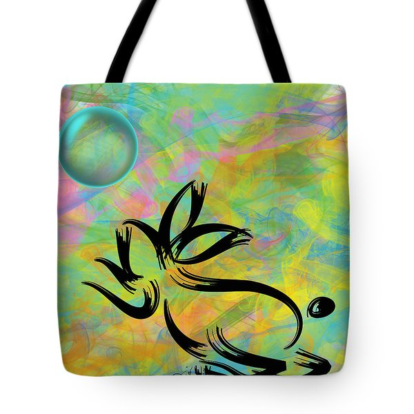 Bubbly Rabbit Tote Bag by Oiyee At Oystudio
