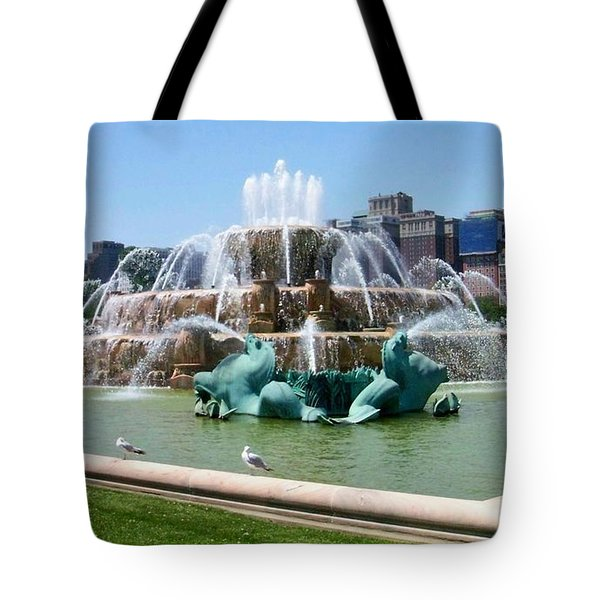 Buckingham Fountain Tote Bag by Anita Burgermeister