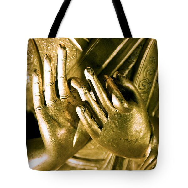 Buddhas Hands Tote Bag by Ray Laskowitz - Printscapes