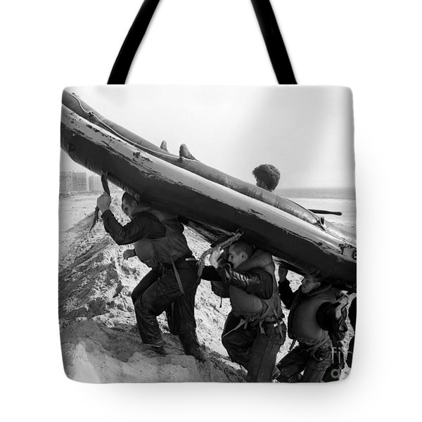 Buds Students Carry An Inflatable Boat Tote Bag by Michael Wood