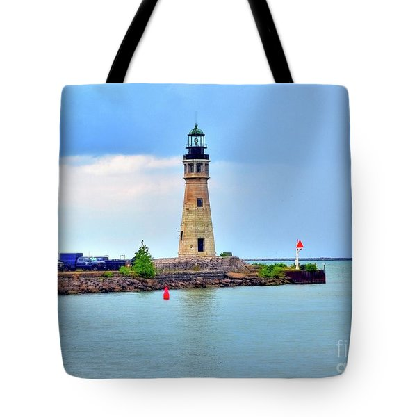 Buffalo Lighthouse Tote Bag by Kathleen Struckle