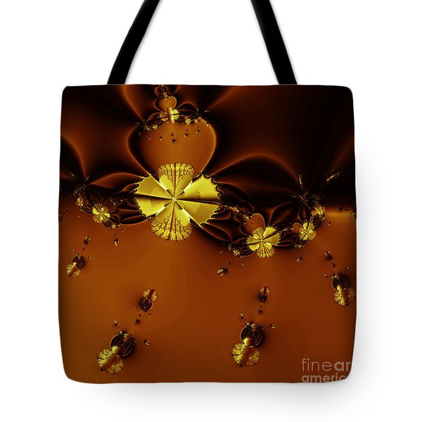 Bumble Beez Over Chocolate Lake . Square . S19 Tote Bag by Wingsdomain Art and Photography