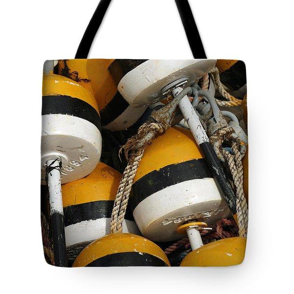 Buoys Tote Bag by Cindi Ressler