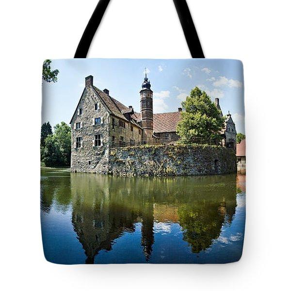 Burg Vischering Tote Bag by Dave Bowman