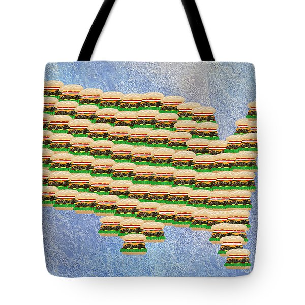 Burger Town Usa Map Tote Bag by Andee Design