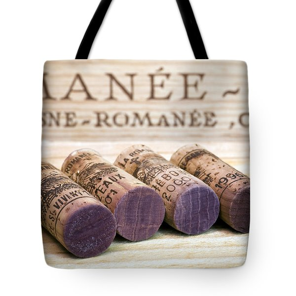 Burgundy Wine Corks Tote Bag by Frank Tschakert