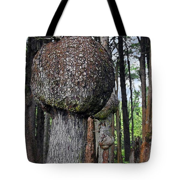 Burly Phantoms - Spruce Burls Beach One Olympic National Park Wa Tote Bag by Christine Till