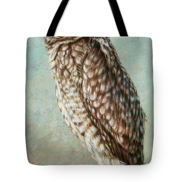 Burrowing Owl Tote Bag by James W Johnson