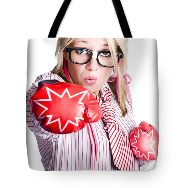 Businesswoman Training Tote Bag by Jorgo Photography - Wall Art Gallery