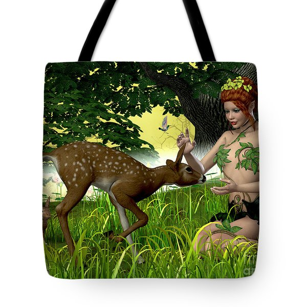 Buttercup Fairy And Forest Friends Tote Bag by Corey Ford