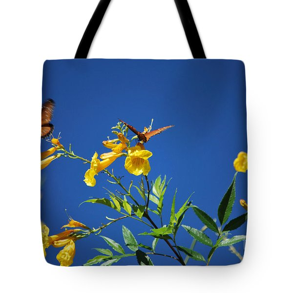 Butterfly in the Sonoran Desert Musuem Tote Bag by Donna Van Vlack