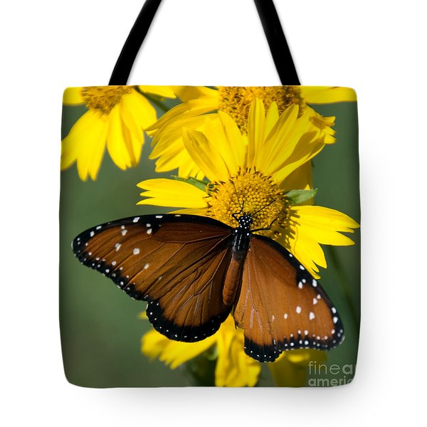 Butterfly Kisses Tote Bag by Charles Dobbs