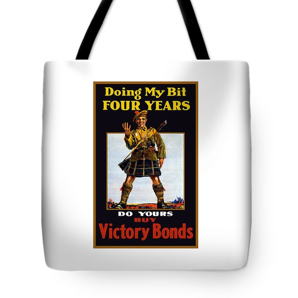 Buy Victory Bonds Tote Bag by War Is Hell Store