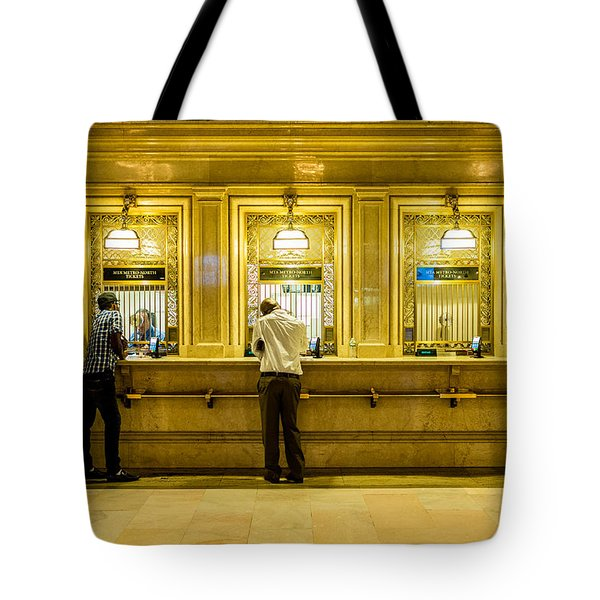 Tote Bag featuring the photograph Buying A Ticket by M G Whittingham