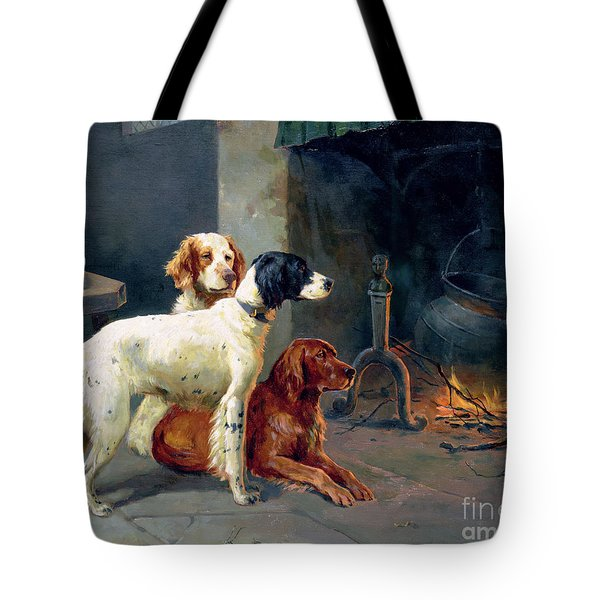 By The Fire Tote Bag by Alfred Duke