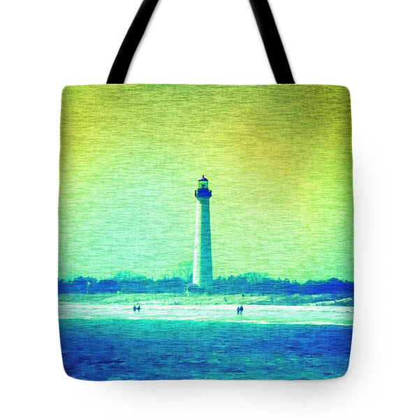 By The Sea - Cape May Lighthouse Tote Bag by Bill Cannon