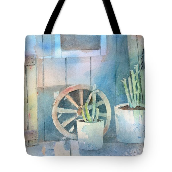 By The Side Of The Shed Tote Bag by Arline Wagner