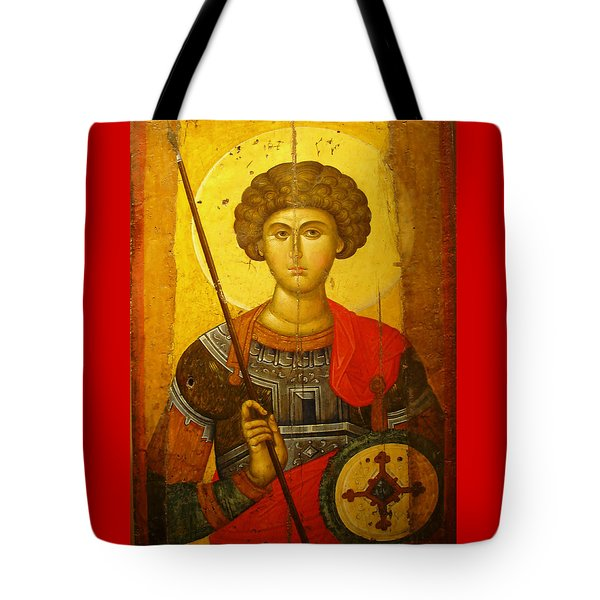Byzantine Knight Tote Bag by Ellen Henneke