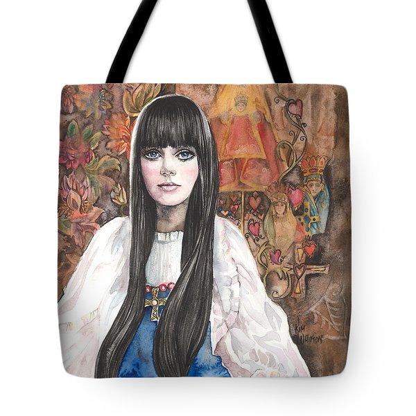 Byzantine Madonna Tote Bag by Kim Whitton