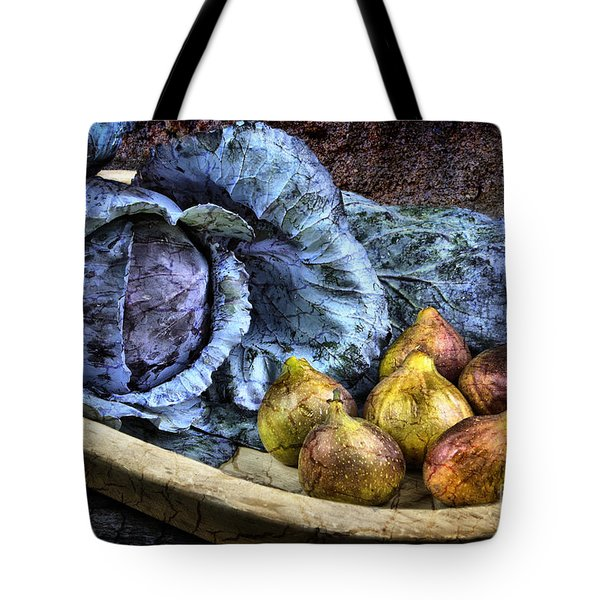 Cabbage and Figs Tote Bag by Sari Sauls