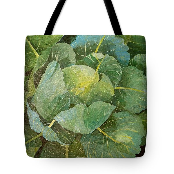 Cabbage Tote Bag by Jennifer Abbot