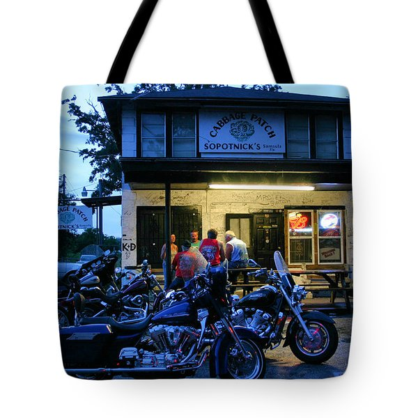 Cabbage Patch Bikers Bar Tote Bag by Kristin Elmquist