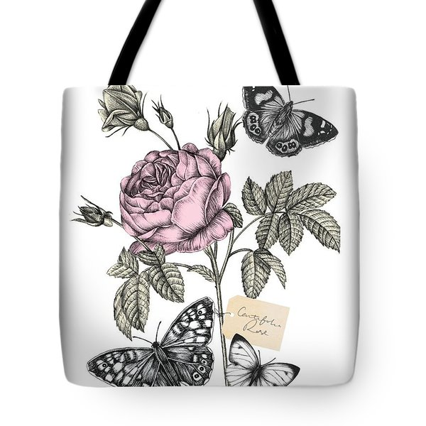 Cabbage Rose Tote Bag by Stephanie Davies