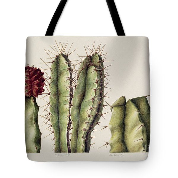 Cacti Tote Bag by Annabel Barrett