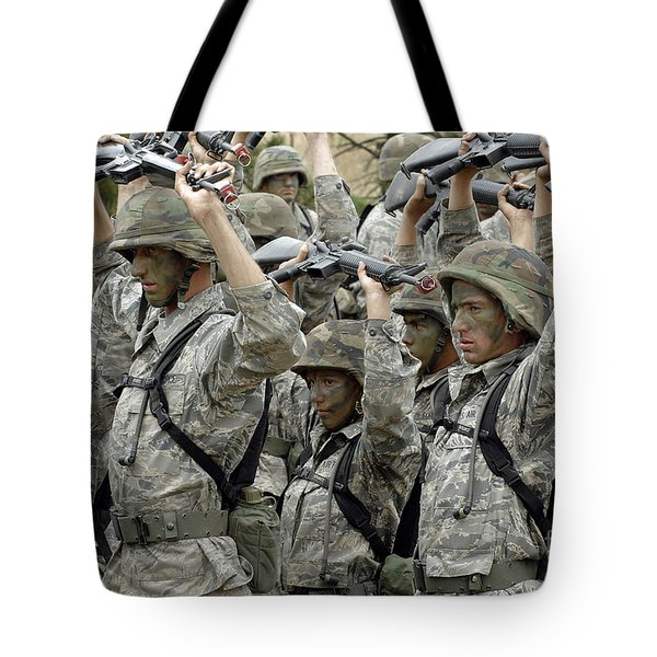 Cadets Prepare To Participate Tote Bag by Stocktrek Images