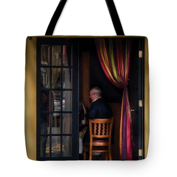 Cafe - Brunch Tote Bag by Mike Savad