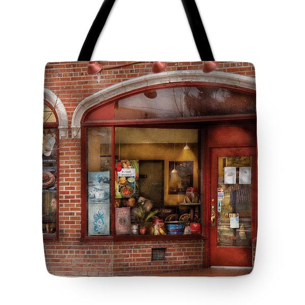 Cafe - Westfield NJ - Tutti Baci Cafe Tote Bag by Mike Savad
