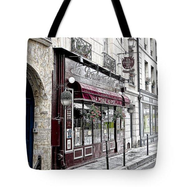 Cafe In Paris Tote Bag by J Pruett