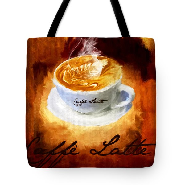 Caffe Latte Tote Bag by Lourry Legarde