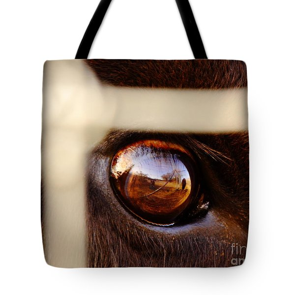 Caged Buffalo Reflects Tote Bag by Robert Frederick