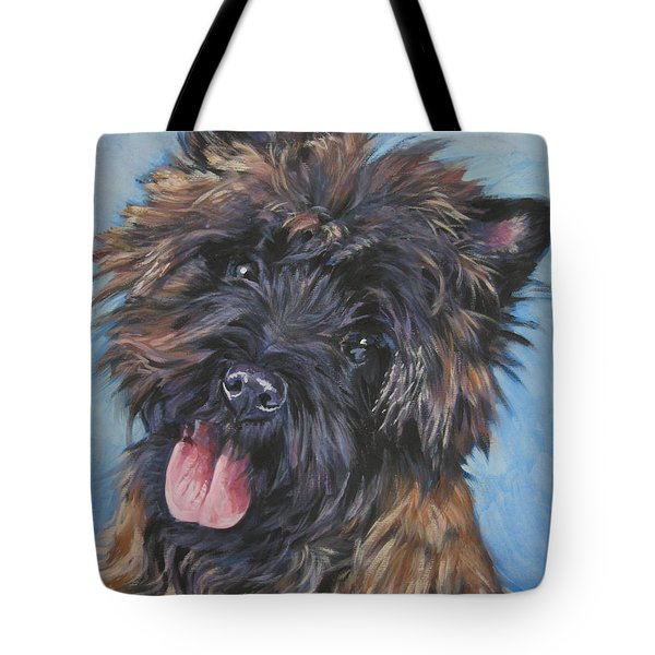 Cairn terrier Brindle Tote Bag by Lee Ann Shepard