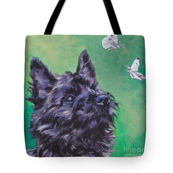 Cairn Terrier Tote Bag by Lee Ann Shepard