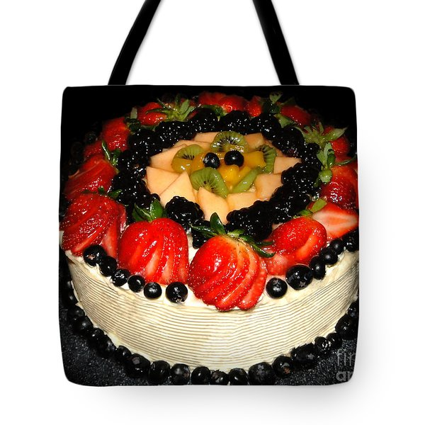 Cake Decorated With Fresh Fruit Tote Bag by Sue Melvin