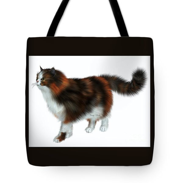 Calico Cat Tote Bag by Corey Ford
