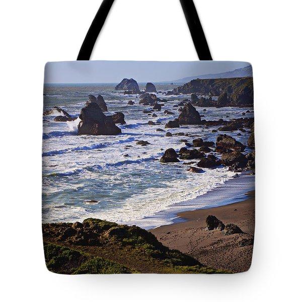 California coast Sonoma Tote Bag by Garry Gay