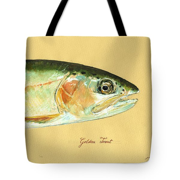 California Golden Trout Tote Bag by Juan  Bosco