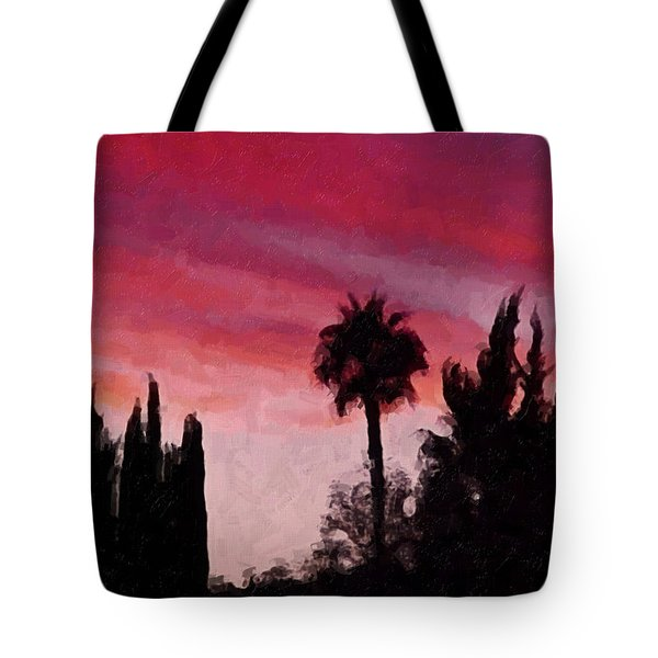 California Sunset Painting 1 Tote Bag by Teresa Mucha