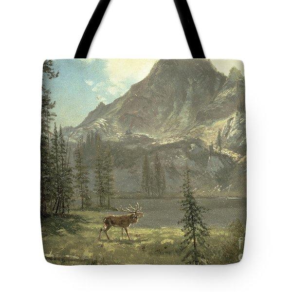 Call Of The Wild Tote Bag by Albert Bierstadt