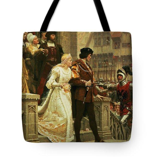 Call To Arms Tote Bag by Edmund Blair Leighton