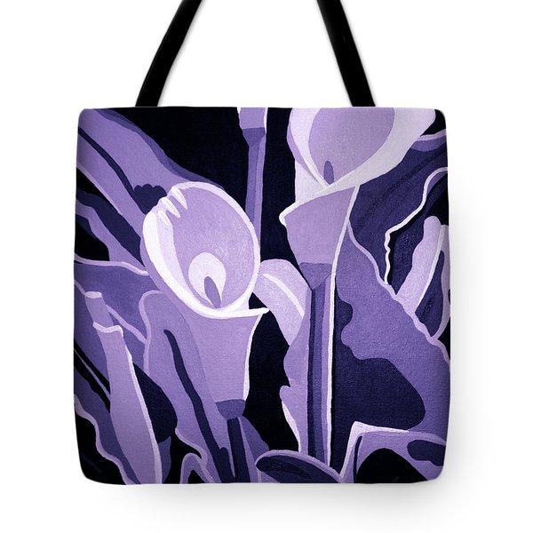 Calla Lillies Lavender Tote Bag by Angelina Vick
