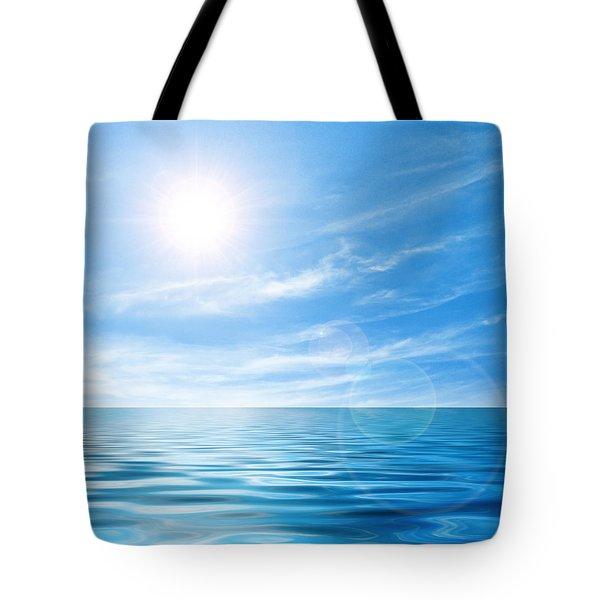 Calm seascape Tote Bag by Carlos Caetano
