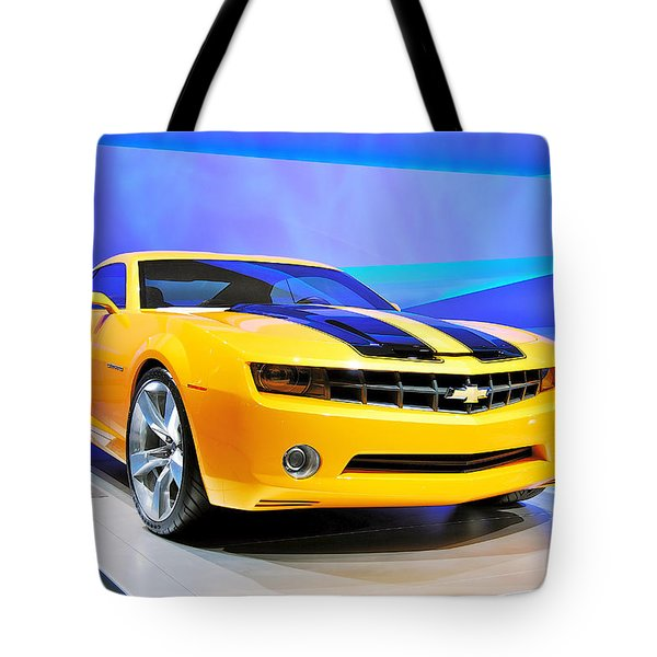 Camaro Bumble Bee 0993 Tote Bag by Michael Peychich