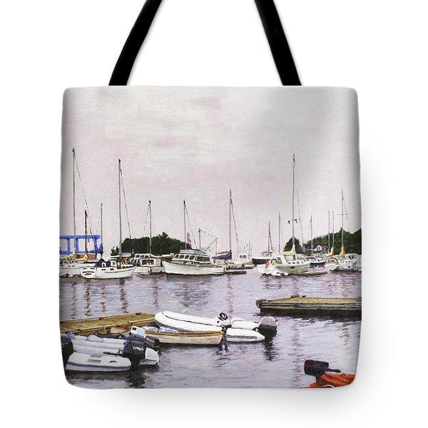 Camden Maine Marina Tote Bag by Thomas Michael Meddaugh
