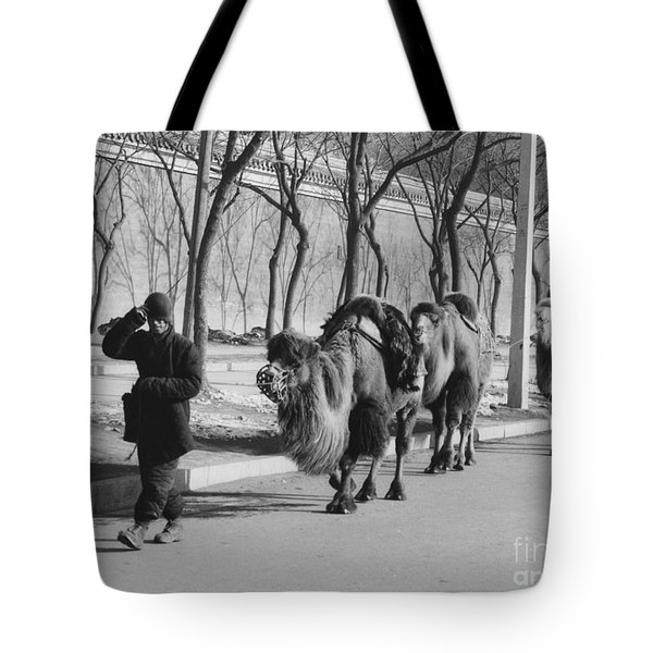 Camel Caravan, China 1957 Tote Bag by The Phillip Harrington Collection