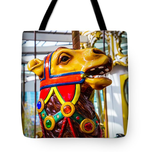 Camel Carrousel Ride Tote Bag by Garry Gay